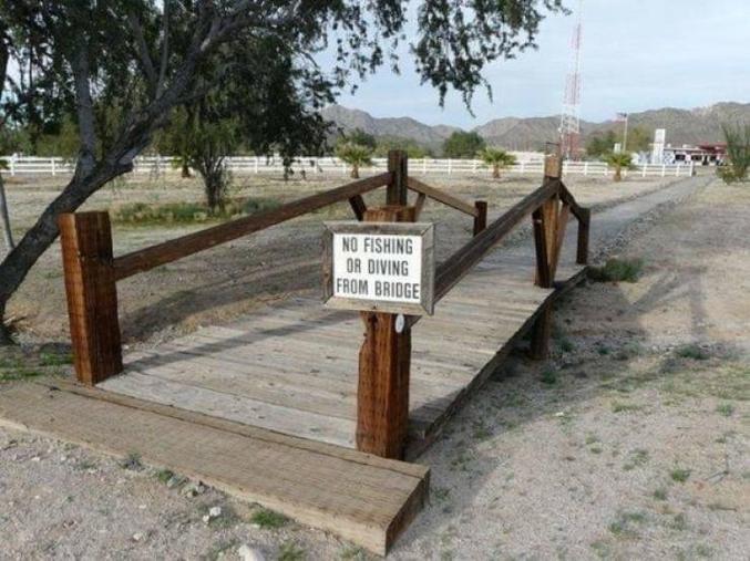 il est interdit de pêcher ou plonger depuis le pont