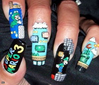 Faux ongles Super Mario
