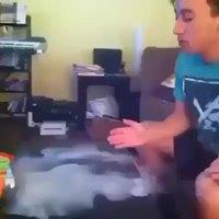 Truc avec de la fumée