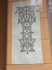 Alphabet si mé trique