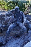 Statue sublimée par le givre