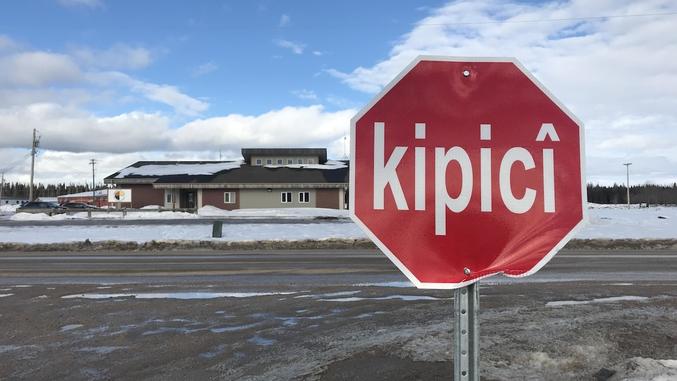 en langue Cri, au Manitoba, Canada.