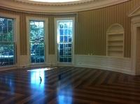 Le salon ovale de la Maison Blanche attend son nouveau décor