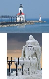 Un phare sur le lac Michigan...