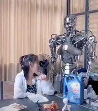 Test 1 : Robot nounou donne la becquée
