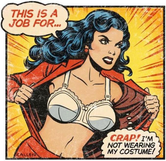 Et merde j'ai oublié de mettre mon costume  un dessin de Kerry Callen : http://kerrycallen.blogspot.fr/