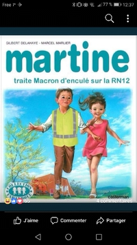 Martine met son gilet jaune