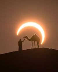 Eclipse en plein désert