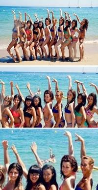 Tout le monde le bras en l'air