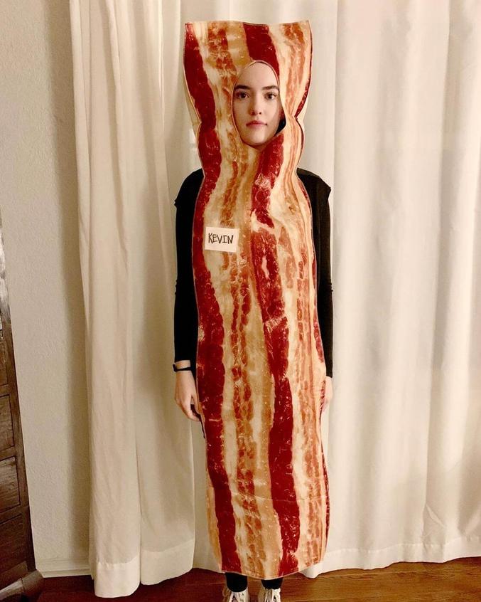 Du bacon qui se marie très bien avec de la saucisse et des oeufs.