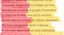 Texte anonyme durant la seconde guerre mondiale
