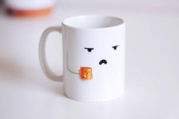 Une tasse.