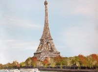 Tour Eiffel dessin en speed painting