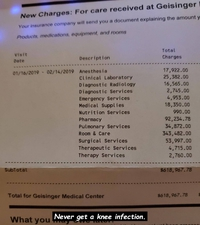Facture médicale aux USA