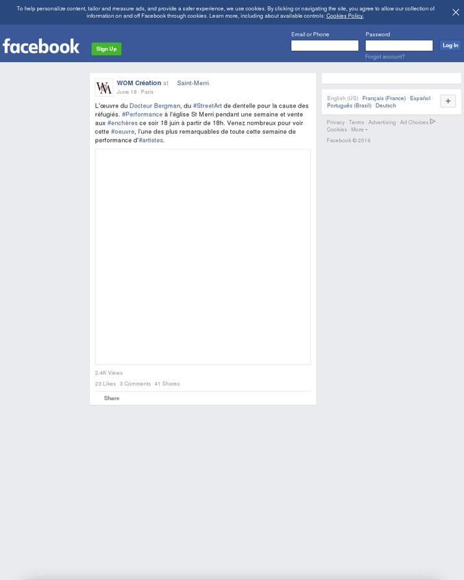 voici son facebook et son site pour ceux qui voudraient voir plus! https://www.facebook.com/DocteurBergman/ http://www.docteurbergman.com/