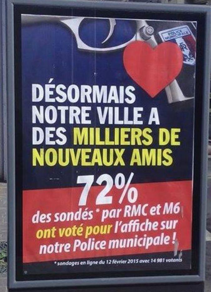 Au vu de la controverse suscitée par sa première campagne d'affichage (cf : http://lelombrik.net/68626 ) M. Ménard (maire de Béziers) a jugé bon de faire une petite mise à jour de ses affiches