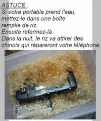 Astuce utile pour réparer un téléphone mouillé