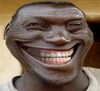 Black troll face