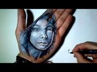Un visage.. sur une main