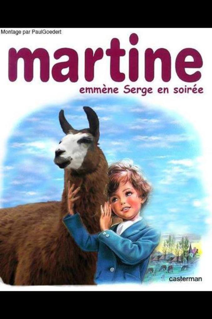 Martine Emmene Serge En Soiree