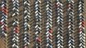 Le parking de l'usine Ford Saarlouis, Allemagne