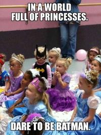 Dans un monde plein de princesses...