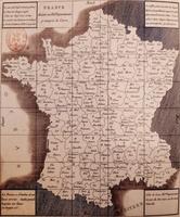 Carte des produits de France en 1843