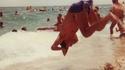 Plongeon à la plage