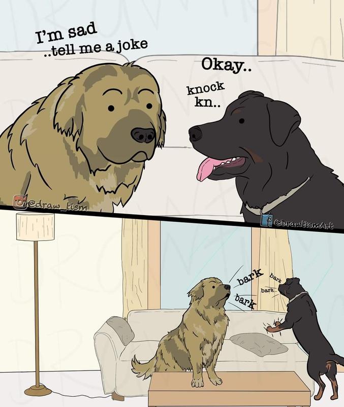 Une blague incompatible