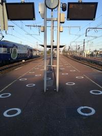 Vue gare de Melun