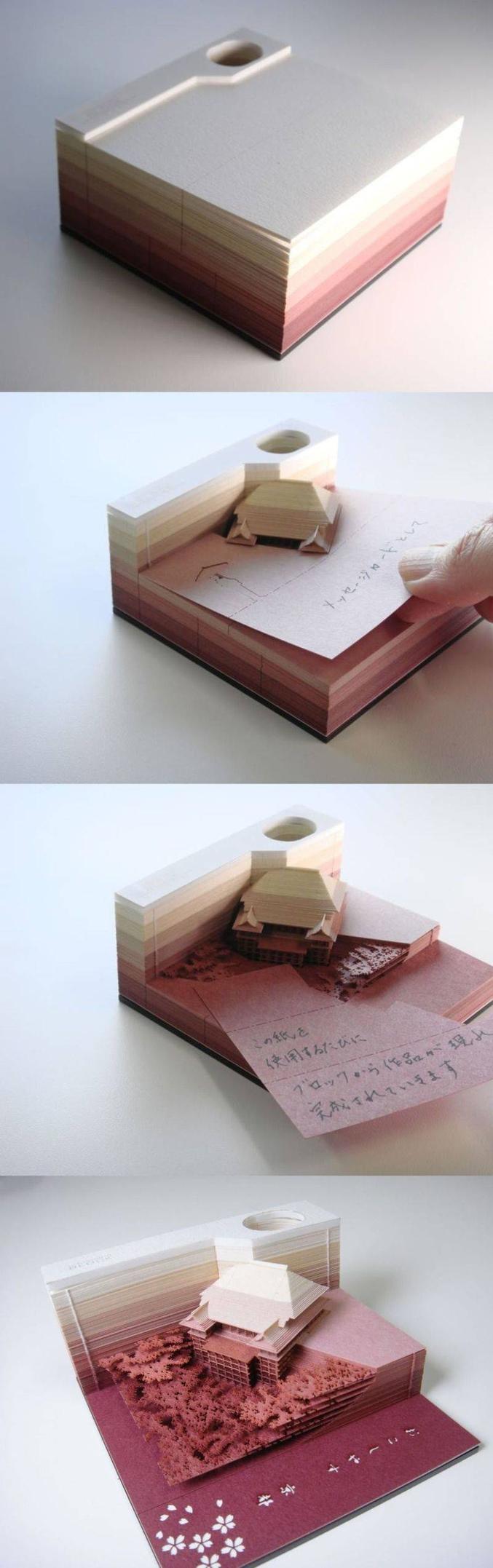 Certes, il ne reste plus trop de place pour écrire à la fin, mais ça fait travailler la mémoire !