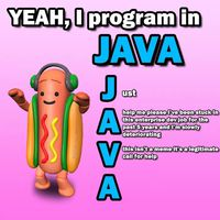 YEAH, I program in JAVA