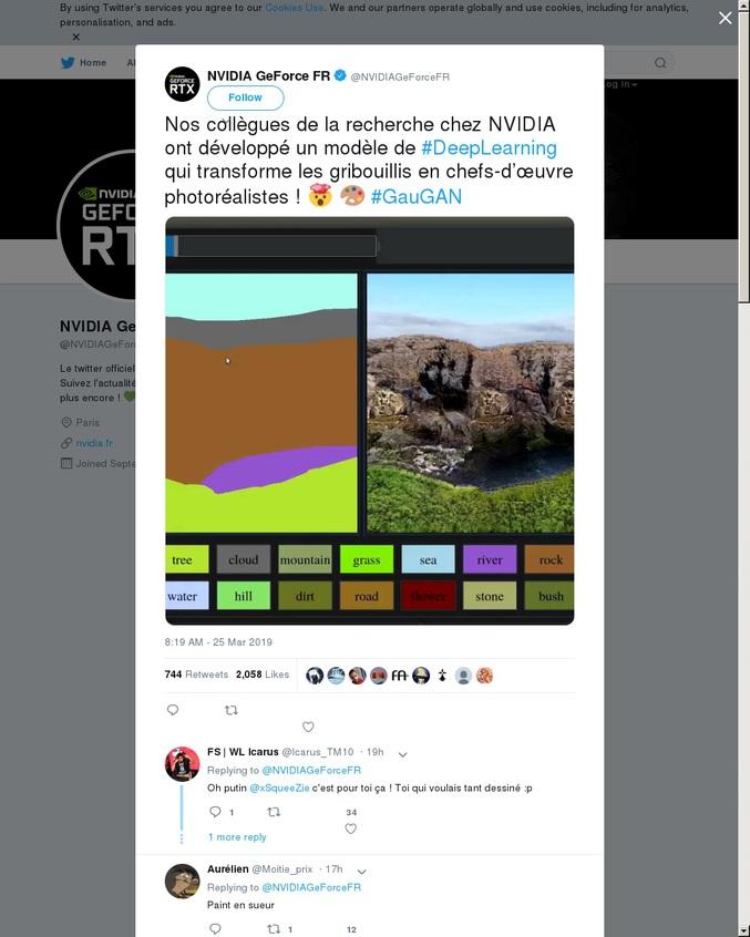 Sublimation de fichiers Paint.  #GauGAN par l'équipe de recherche & développement NVIDIA