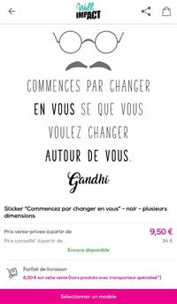 ghandi, le français, c'était pas sa langue maternelle