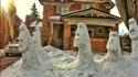 Moaï de neige