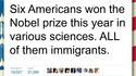 6 américains scientifiques ont eu un prix Nobel cette année...
