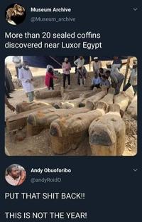 Découverte à Louxor de 20 sarcophages encore scellés