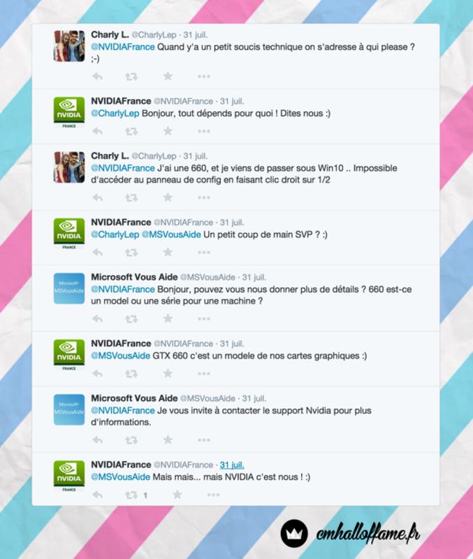 fail de Microsoft sur twitter et nvidia