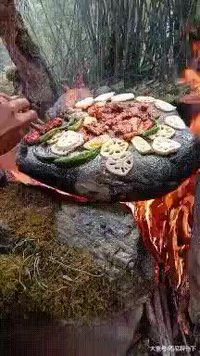 Petit barbecue sur pierre