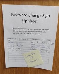 Formulaire de changement de mot de passe