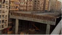 Construction d'une autoroute urbaine