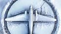 Un avion sous la neige