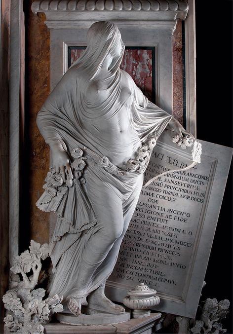 """""""La Pudicizia!"""" j'en ai tellement chié pour essayer de faire un post """"Couteaux"""" fourni en photo et en texte pour Oblivionis, que j'ai préféré poster cette superbe statue... (une des statues déjà montrées par Phil je crois ... de la Capella San Severo à Naples, Ecole Micky l'Angelo, la plupart sculptées par Giuseppe Sanmartino en moins de 3 mois... Notamment le Christ voilé.) """"Il Disinganno"""" (la désillusion) étant, pour moi, le plus beau chef d'œuvre sculptural de la renaissance (le David je le voit tous les jour sur un rond-point...) Avec son filet de marbre monobloc et les détails de l'ange et du bouquin, Vous irez voir..."""