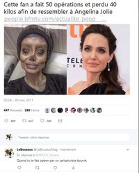 La sosie d'Angelina Jolie ou la zombie d'Angelina Jolie