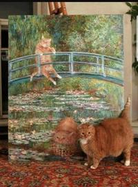 Le Bassin aux nymphéas et aux chats