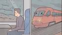 Kan tu es dans le train et que tu vois de la pluie