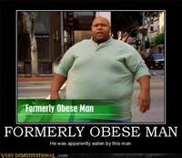 Homme auparavant obèse