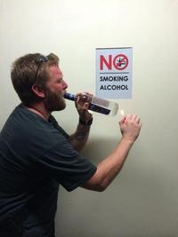 Ne pas fumer d'alcool