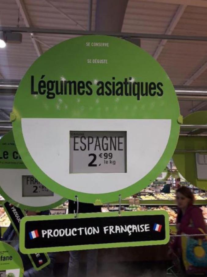 Y'a bon la mondialisation , bientôt il faudra un passeport pour acheter des poireaux.