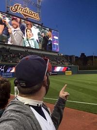 Selfie sur écran géant